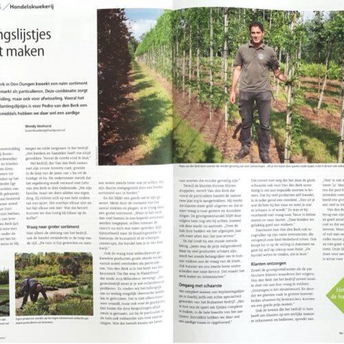 Van den Berk in het vakblad 'De Boomkwekerij'.